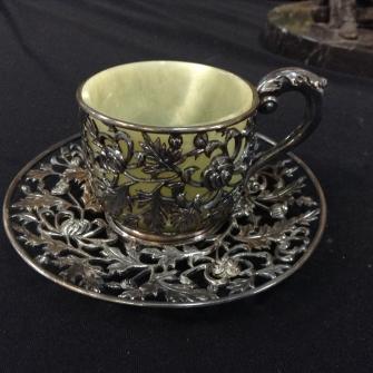 silver & jade cup, antiques, orlando