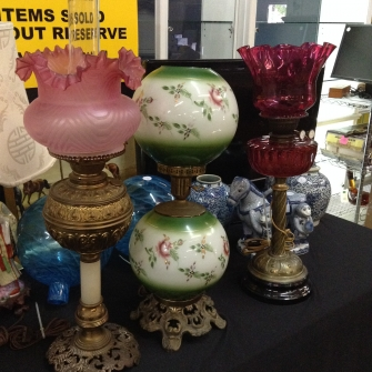 Victorian lamps from Winter Garden Estate Liquidation