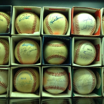 signed baseball collection
